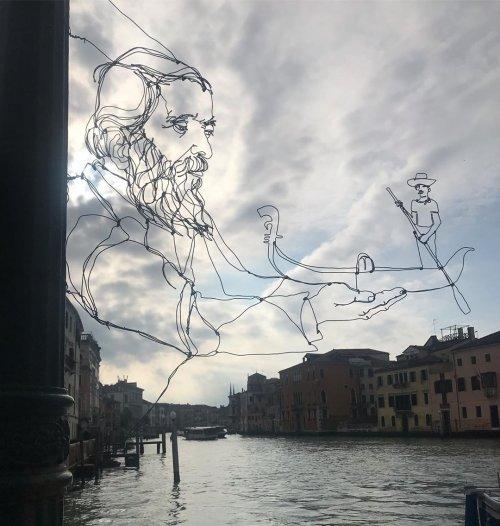 Нидерландский художник, который с помощью проволоки может изобразить практически всё