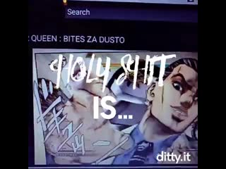 holy shit is that a motherfucking jojo reference