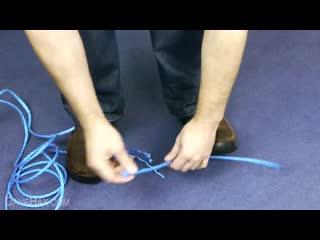 Как разрезать веревку голыми руками