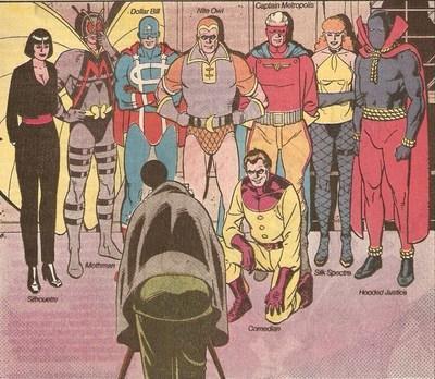 Команда Ополченцев в сериале «Хранители»,  в одноименном фильме Зака Снайдера и в оригинальном комиксе