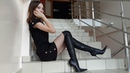 Christina's pointed toe high heels Gianmarco Lorenzi over knee boots Christina FOREVER