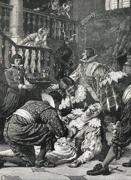 ФЕЛЬТОН И БЭКИНГЕМ. УБИЙСТВО ГЕРЦОГА. В 1628 году ненависть английского народа и парламента к фавориту короля Карла I герцогу Бэкингему достигла предела. Английский парламент выступил против