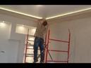 Как сделать короб из гипсокартона Светодиодная подсветка Монтаж потолка из гипсокартона