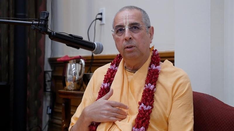 H.H. Niranjana Swami - kirtan and lecture on Bhagavad Gita 12.16 - 7/17/2019