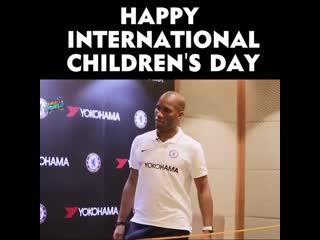 Jom celebrate our super kid lulu here with @didierdrogba