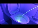 UV light shows the unseen splashes created by standing urination