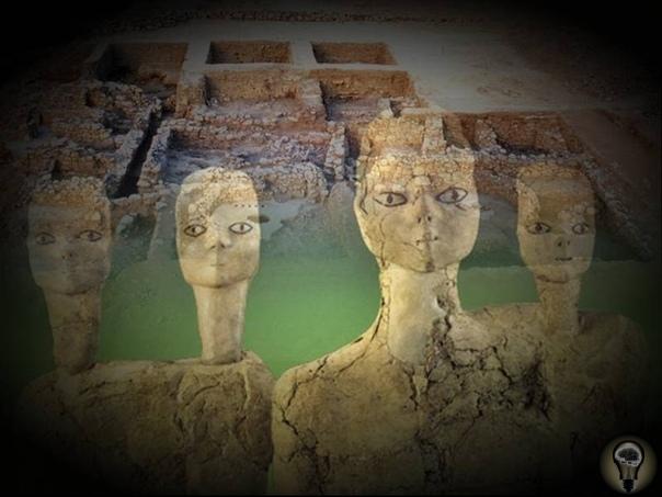 Мистические иорданские статуи эпохи раннего неолита Эти статуи вместе с 2 древними храмами, датируемыми более чем 8000 годами, были обнаружены в 1983 году во время раскопок в неолитическом