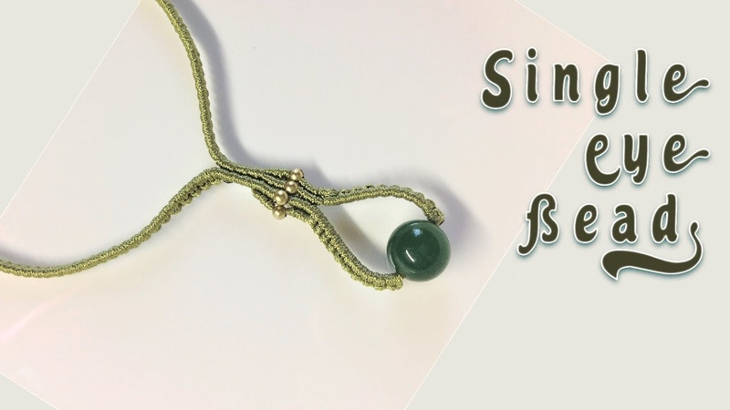 How to macrame Simple single bead necklace Easy macrame tutorial with step by step