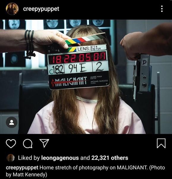 Джеймс Ван поделился фото со съёмок своего нового хоррора «Злое»