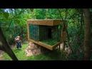 Build Mini Jungle Bamboo Villa on Termite Mound By Ancient Skills