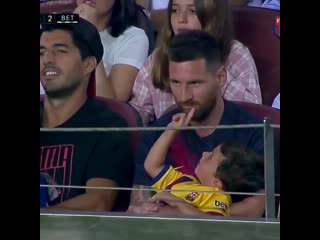 It's a good thing that messis son isnt playing this game with luis suarez.