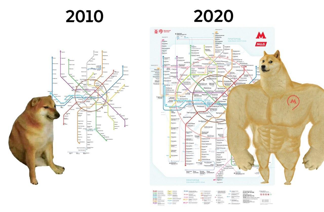 Как изменилось московское метро за 10 лет. Интересно, что будет еще через десятилетие?