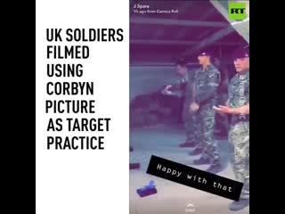 4 soldiers seen using picture of jeremy corbyn for shooting practice, won't be fired - -