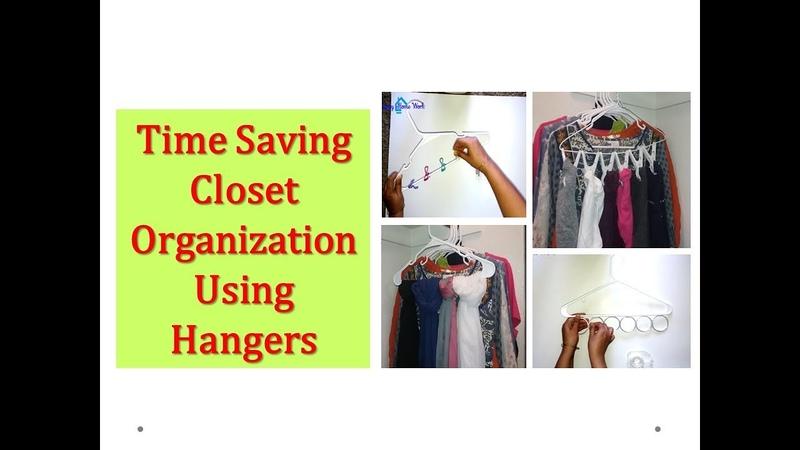 How to organize closet in few minutes - Time saving Closet organization (Hanger hacks )