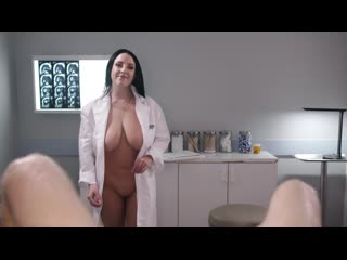Angela white full body physical exam (big tits, big ass, doctor, nurse, blowjob, black hair, natural tits)