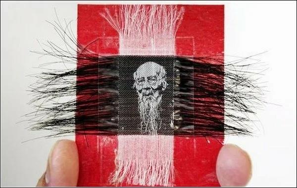 """В Китае такой вид вышивки называется """"Мосю""""."""