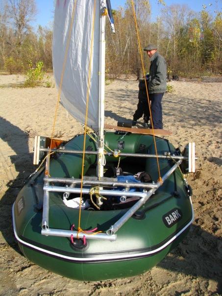 изготовление паруса для надувной лодки