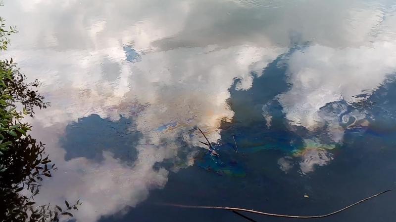 Слив химикатов в реку Белая 06.07.2018 -3