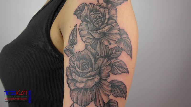 Татуировка Розы (Блек) 4K