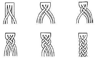 Схема коса из веревки