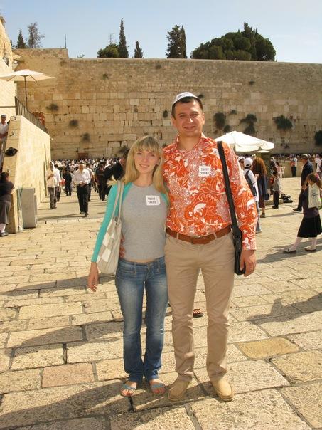 Израиль. г. Иерусалим. На заднем плане - Стена Плача