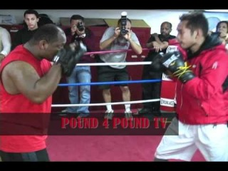 Pound 4 Pound TV Presents: Nonito Donaire Training Session At Kingsway Gym