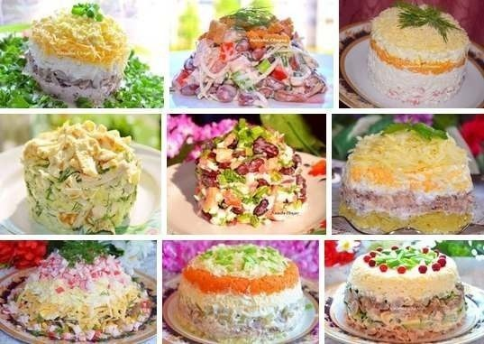 "9 recipes of the most tasty salads from Natalya Chagay\u000d\u000a\u000d\u000a1. ""Ночь&quot salad;\u000d\u000a2. Croutons salad\u000d\u000a3. ""Нежность&quot salad;"