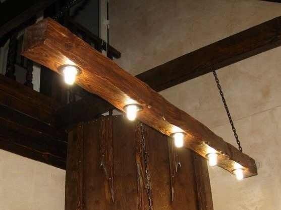 Потолочный светильник из дерева своими руками