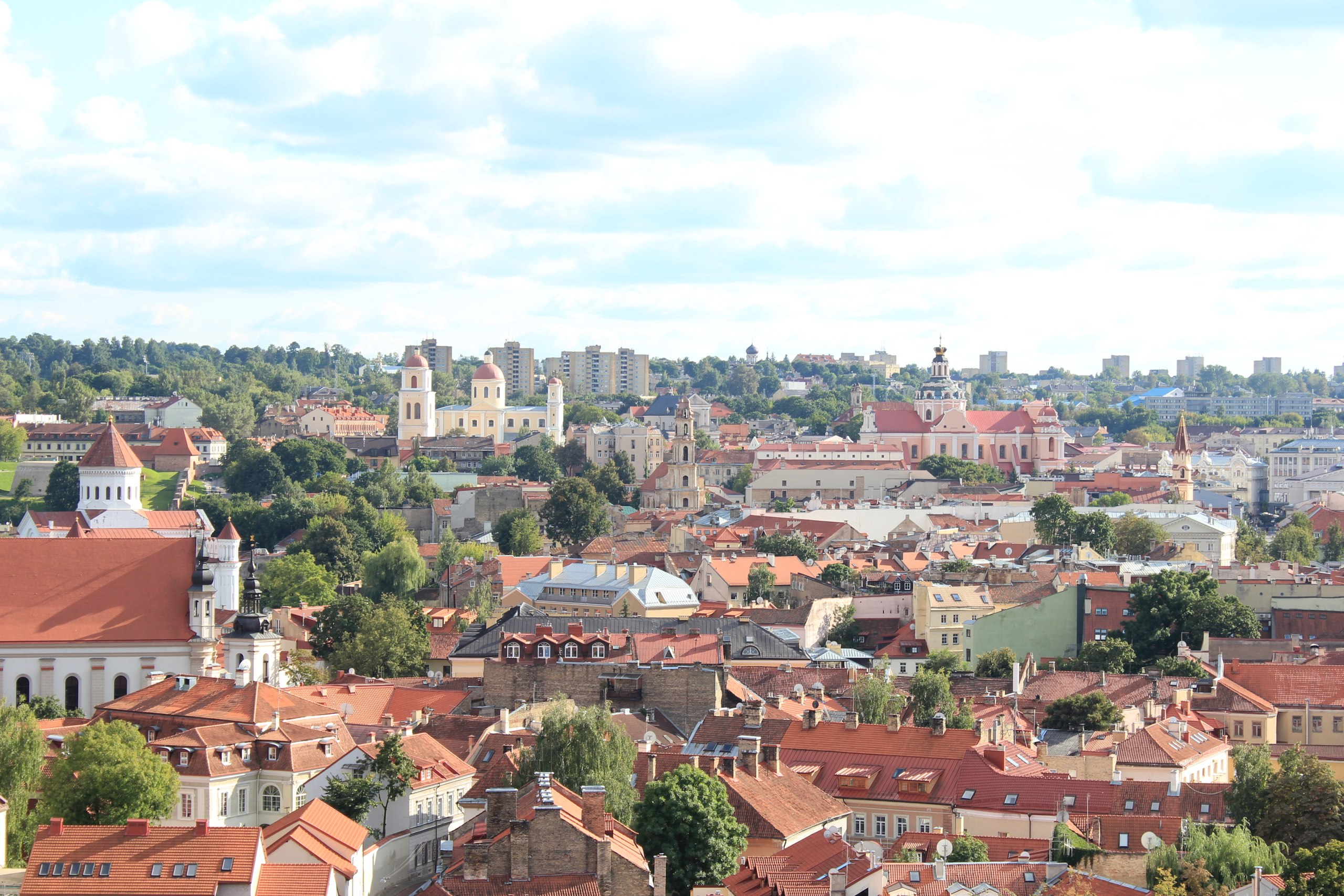 Европа. Вильнюс, вид на старый город