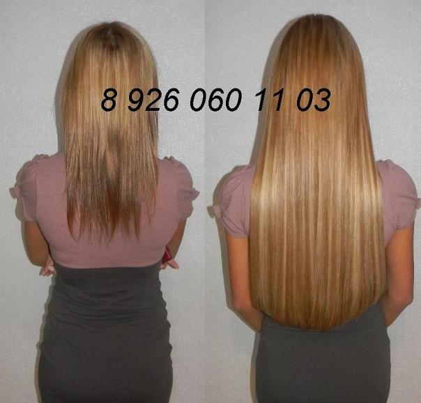 Наращивание волос 60 см фото