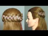 Урок плетения косы с лентами или учимся плести косичку с лентой