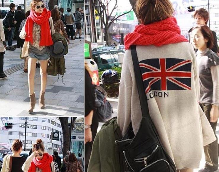 свитер с британским флагом