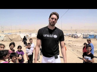 Pau Gasol calls for more help for children of Syria. #NBAnews