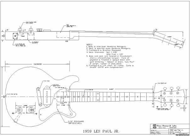 чертежи классических гитар