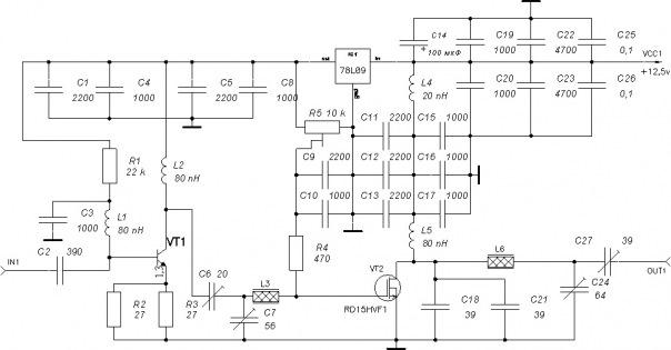 электрическая схема печатных