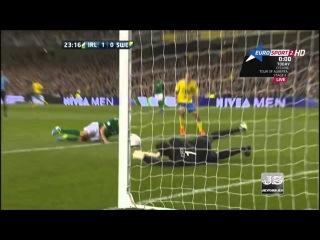 Ирландия — Швеция 1:2, отборочный матч на Чемпионат мира 2014