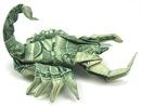 оригами из денег. скорпион оригами.