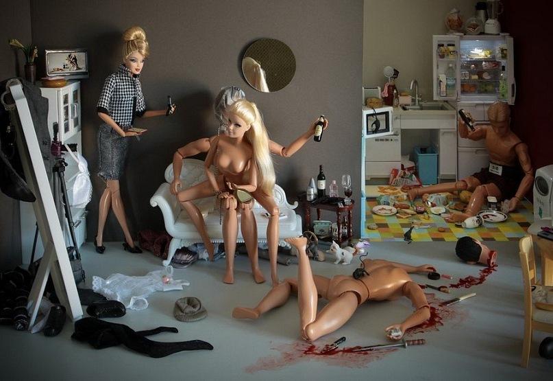 С куклой барби порно