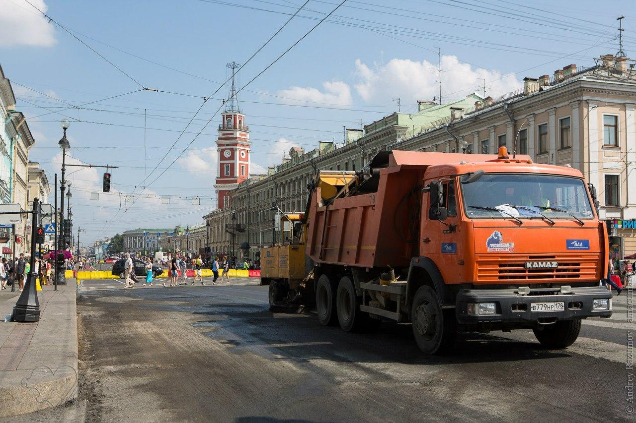 Ремонт Невского проспекта дорожные работы