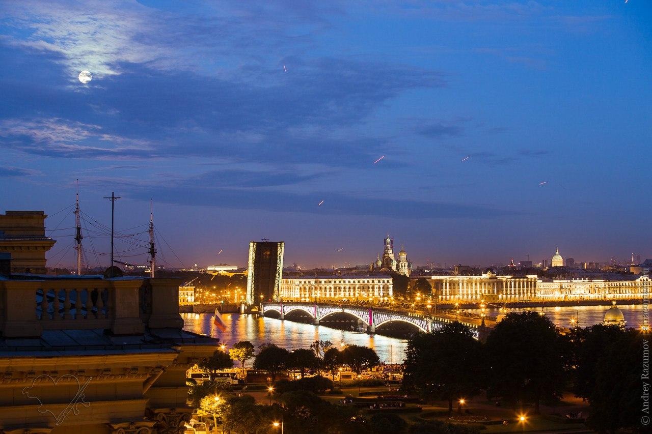 Ночной Петербург прогулки по крышам