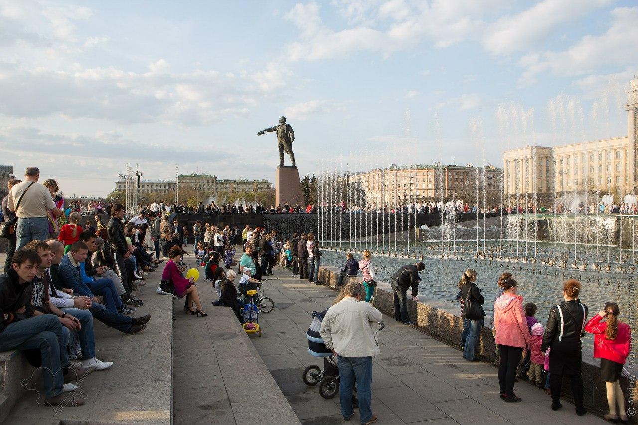 Московская площадь Санкт-Петербург фонтаны