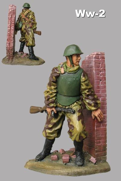Солдаты ВОВ №43 - Майор бронетанковых войск в полевой форме, 1941г.