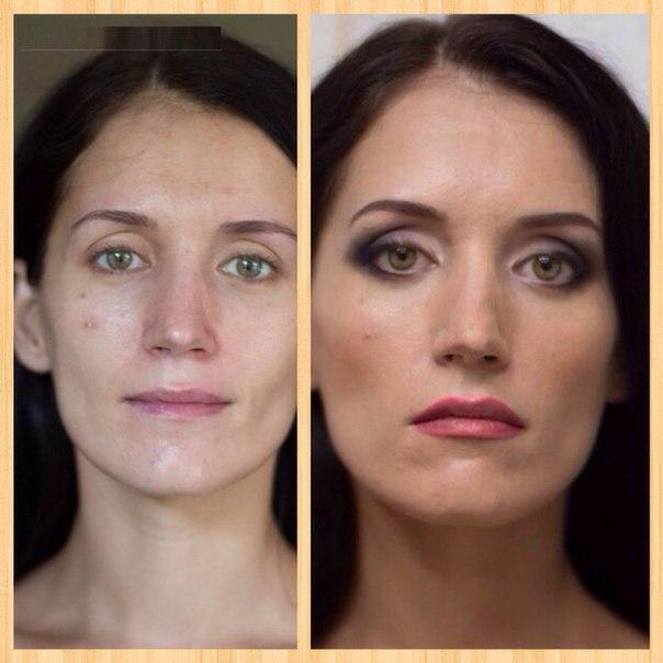 профессиональный макияж до и после видео