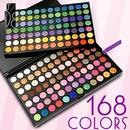Профессиональные тени для визажа 168 цветов.