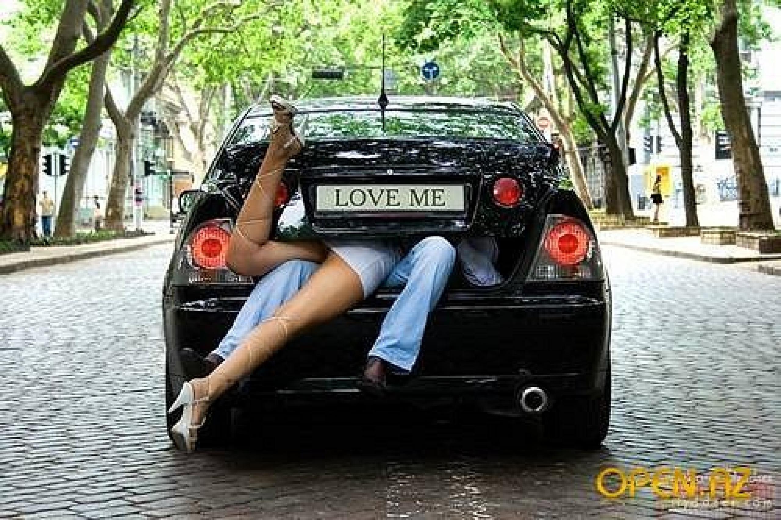 Секс в авто картинки 3 фотография