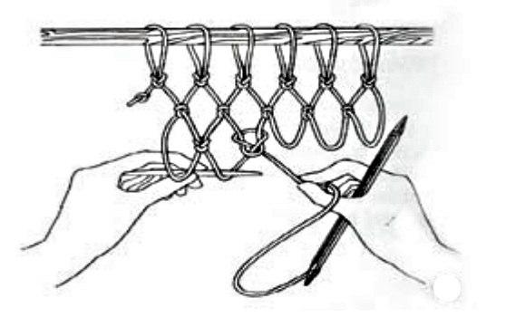 Как связать сетку для футбольных ворот своими руками 20