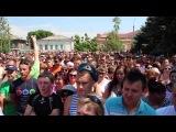 Стихийный митинг в  городе Пугачеве Саратовской области.