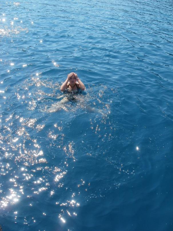 Мои путешествия. Елена Руденко. Турция. Средиземное море. Экскурсия на яхте.  2011 г.  Y_06731895
