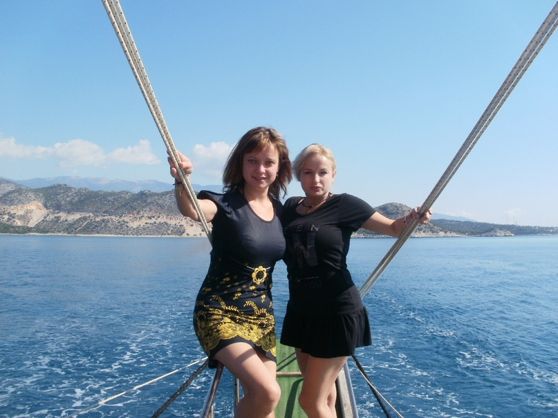 Мои путешествия. Елена Руденко. Турция. Средиземное море. Экскурсия на яхте.  2011 г.  Y_0ba782f2