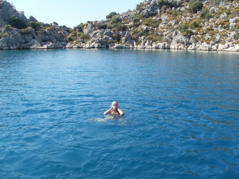 Мои путешествия. Елена Руденко. Турция. Средиземное море. Экскурсия на яхте.  2011 г.  Y_18b099a5